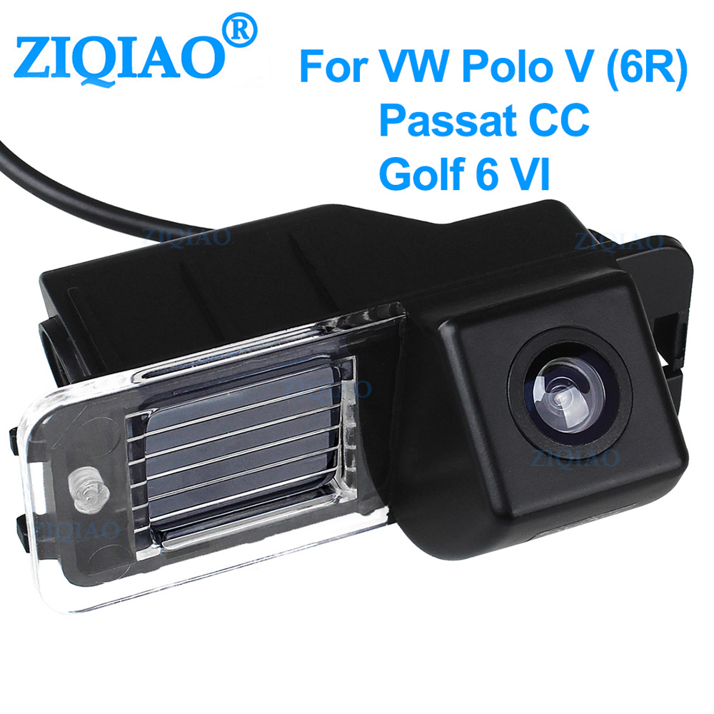 ZIQIAO Car Rear View Camera Reverse Rearview Parking System For Volkswagen Polo V 6R Golf 6 VI Passat CC HS051