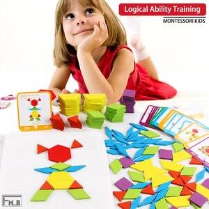 155 шт. деревянные творческие головоломки для детей раннего образования головоломки игрушки Монтессори игрушки