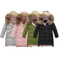 MUQGEW Kids Girls 2019 New Winter Coat Faux Fur Hooded Parka Down Comfy Coat Puffer Jacket Padded Overcoat jaquetas infantil