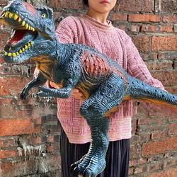 84cm grande dinossauro tubarão modelo brinquedos para crianças tyrannosaurus rex fantoches macios animais velociraptor jurássico mundos presente das crianças