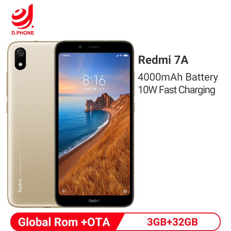 Global Rom Xiaomi Redmi 7A 3GB RAM 32GB ROM Mobile Phone Snapdragon 439 Octa Core 4000mAh Battery 13MP Rear Camera Smartphone