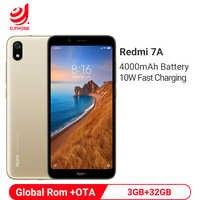 Rom globale Xiaomi Redmi 7A 3GB 32GB téléphone portable Snapdragon 439 Octa Core 4000mAh batterie 13MP caméra arrière Smartphone