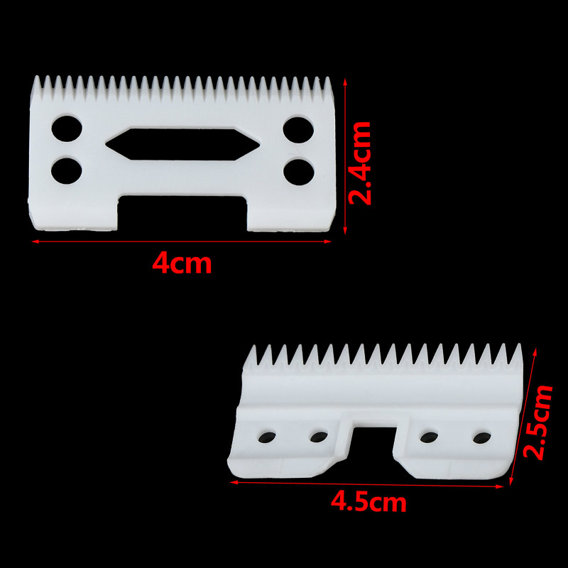 High Quality Ceramic Titanium Knife Pet Dog Hair Trimmer Blade Clipper Head 18 Teeth Ceramic Clipper Blade