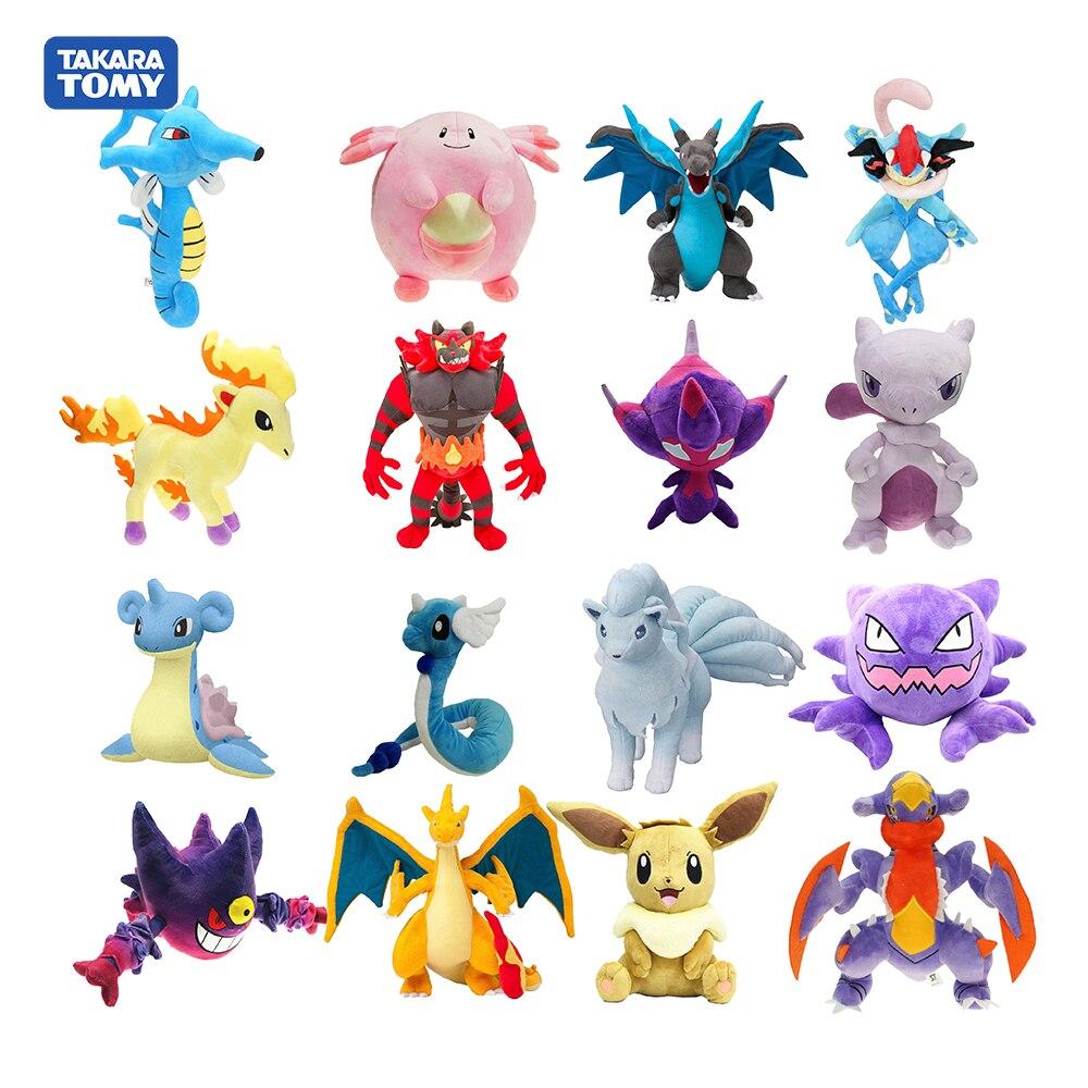 anime-font-b-pokemon-b-font-sun-moon-pikachu-action-figures-greninja-dragonair-psyduck-charizard-solgaleo-stuffed-plush-cartoon-doll-toy