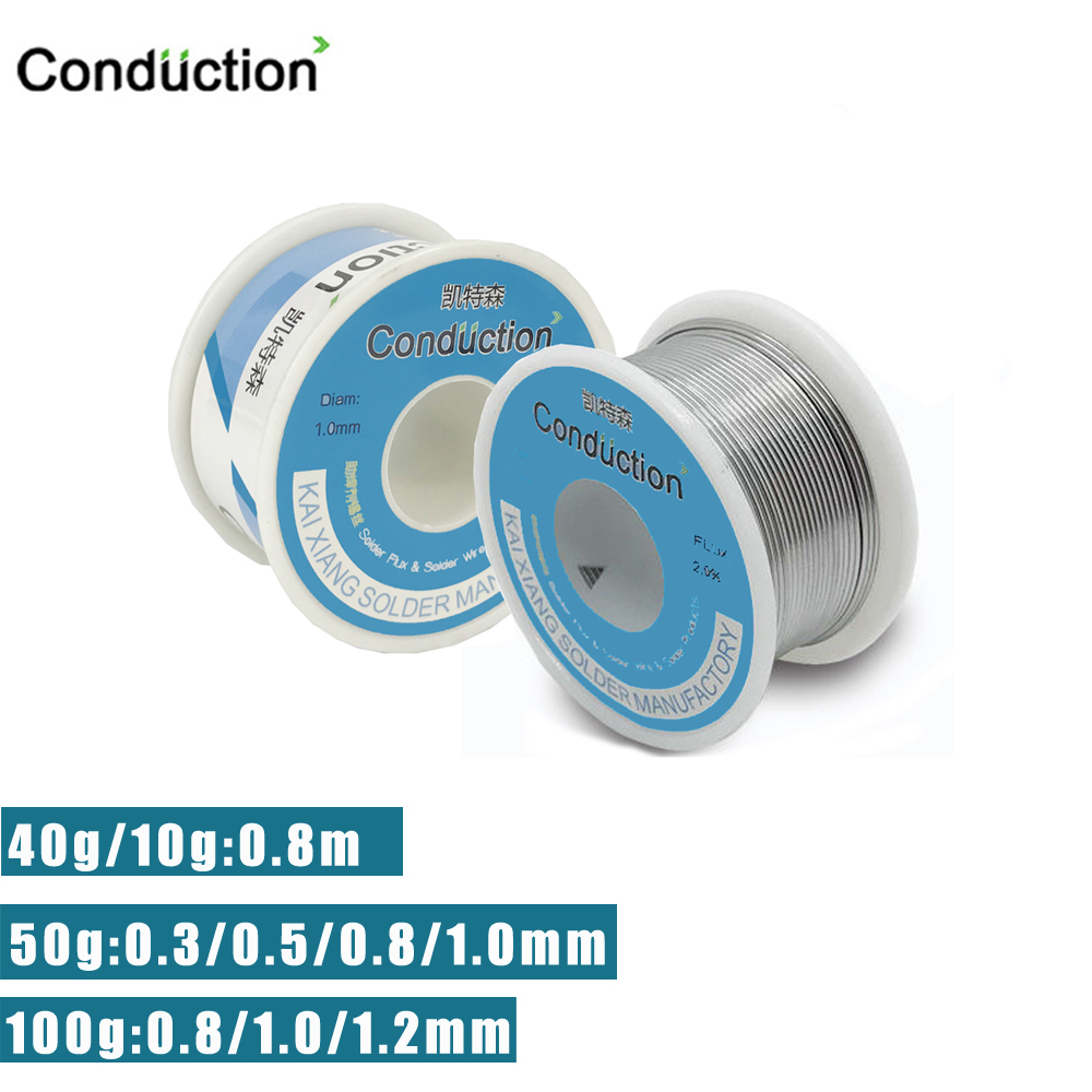 50g/100g Welding Solder Wire High Purity Low Fusion Spot 0.3/0.5/0.8/1/1.2mm Rosin Soldering Wire Roll No-clean Tin BGA Welding
