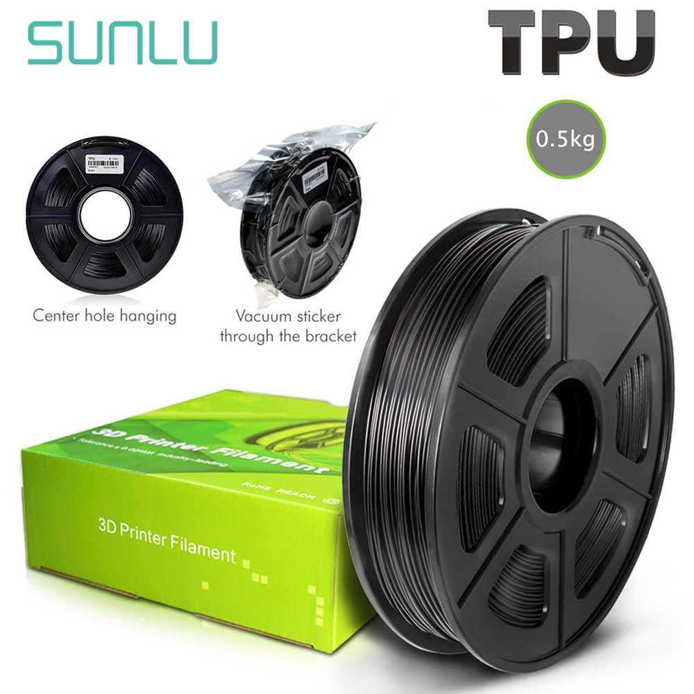 Нить SUNLU из ТПУ для 3D принтера, Гибкая нить 100% без пузырей из ТПУ, Гибкая нить для 3D принтера, нетоксичные товары для сублимации 1,75 мм