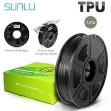 Filamento flexível 100% da impressora de sunlu tpu 3d nenhum filamento flexível da bolha tpu para a sublimação não-tóxica da impressora 3d fornece 1.75mm