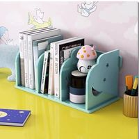 2020 Sharkbang Wooden Book Holder Desk Storage Organizer Bookends School Stationery Supplies