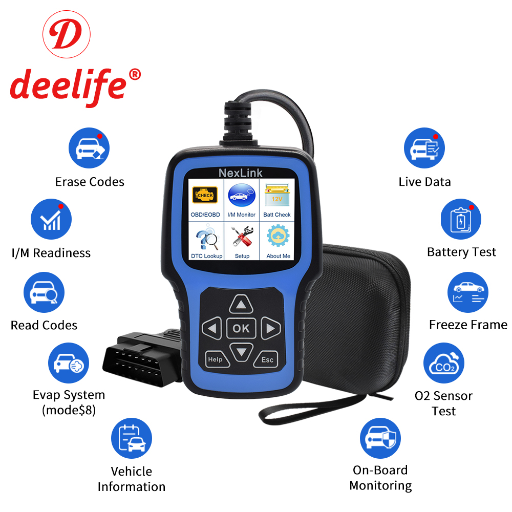 Deelife obd2 scanner odb2 ferramenta de diagnóstico do carro auto obd 2 varredura leitor código automotivo profissional para odb ii auto diagnóstico
