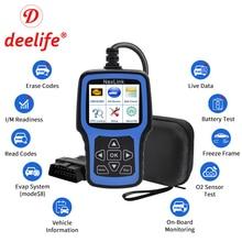 Deelife skaner OBD2 diagnostyka samochodu OBD 2 narzędzie diagnostyczne dla Auto ODB2 OBDII ODB II profesjonalny czytnik kodów Automotive Scan