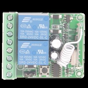 Image 4 - 433 315mhzのワイヤレスリモートコントロールスイッチdc 12v 10A 2CH rfリレー受信機と送信機をリモートスイッチガレージモータ制御