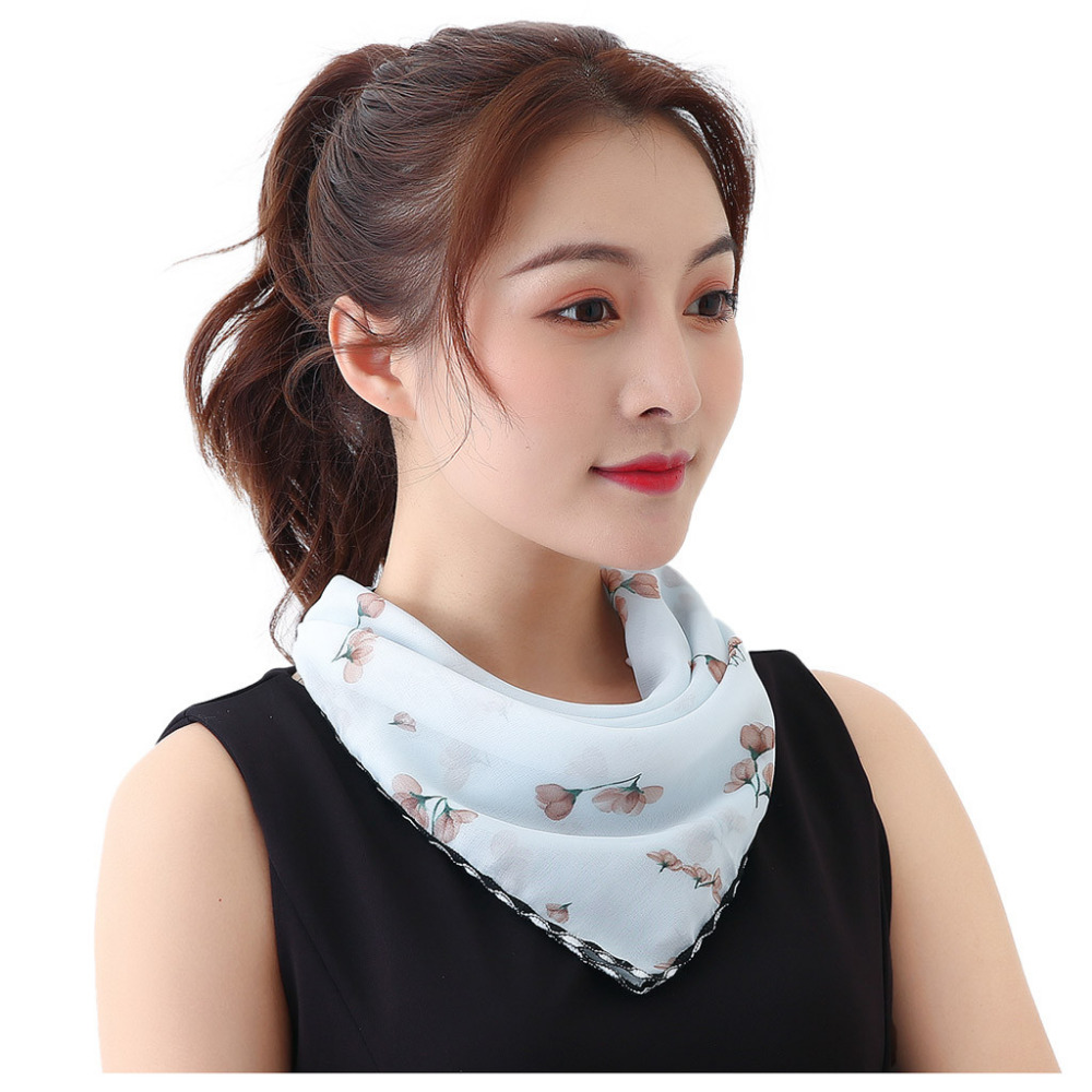 Women's Protective Washable Cotton Scarf Mask 13