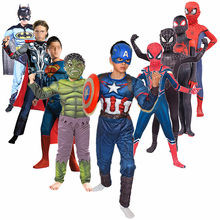 4-14y criança super herói filme fantasia traje cosplay crianças para carnaval halloween festa criança aranha