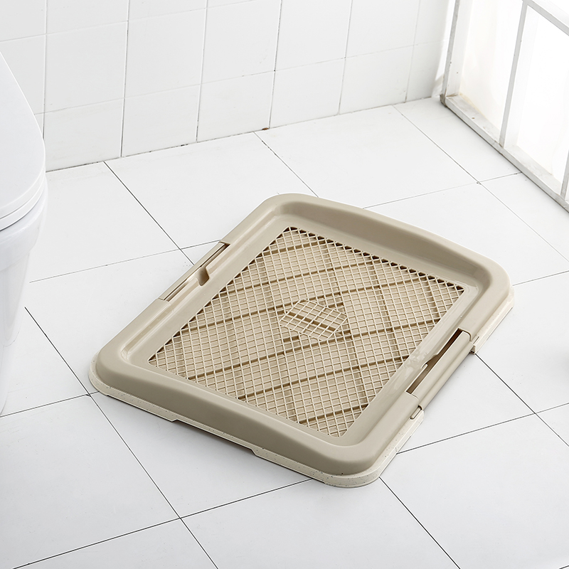 Tray Indoor Litter Box Plastic Small Dog Toilet Hands Free Dog Poop Collector Puppy Potty Trainer Bandeja Perro Products KK60CS