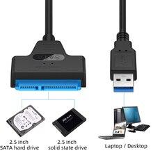 FONKEN USB SATA 3 kablosu PC dizüstü sabit Disk kablosu desteği 2.5 inç harici SSD HDD sabit Disk sürücüsü 22 Pin Sata III USB 3.0 adaptörü