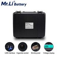 Lifepo4 12V 40Ah Pack de batería recargable con-en BMS USB encendedor de coche interfaz de almacenamiento de energía RV EV de la fuente de alimentación