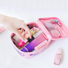 Portable Women Make Up Cosmetic Bag Waterproof Beauty Case O