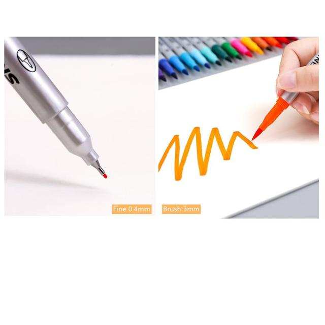 Купить 12/24 цвета двухсторонний мягкий наконечник маркер для рисования картинки цена