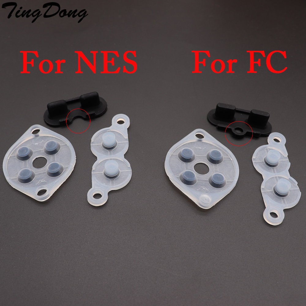 TingDong Rubber Replacement Parts For NES FC PC Controller Joy Pad Silicon Conduct Rubber Button