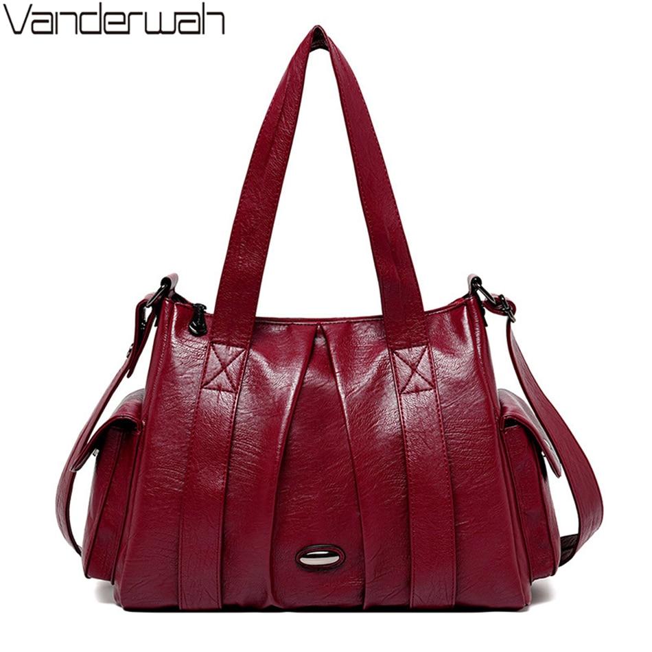 Large Capacity Ladies Shoulder Bag Pleated Crossbody Bags For Women Luxury Tote Handbags Women Bags Designer Bolso De Mujer