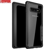 IPAKY per Samsung S8 S9 S10 Plus Note 10 custodia protettiva in silicone trasparente Super antiurto per Samsung S21 Plus Ultra