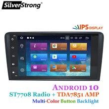 SilverStrong 2Din coche Android 9,0 para Audi A3 S3 2003, 2004-2011, 2008 A3 GPS Android Radio de coche navegación GPS 16G S3 2 DIN DVD A3