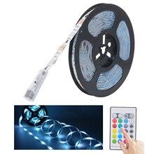 Смарт-светильник, 5 м RGB-светильник, Светодиодная лента, водонепроницаемый светильник s для умного дома с интерфейсом постоянного тока и пуль...