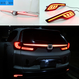 For Honda CRV CR-V 2017 2018 2019 Multi-function LED Rear Bumper Light Rear Fog Lamp Auto Bulb Brake Light Reflector