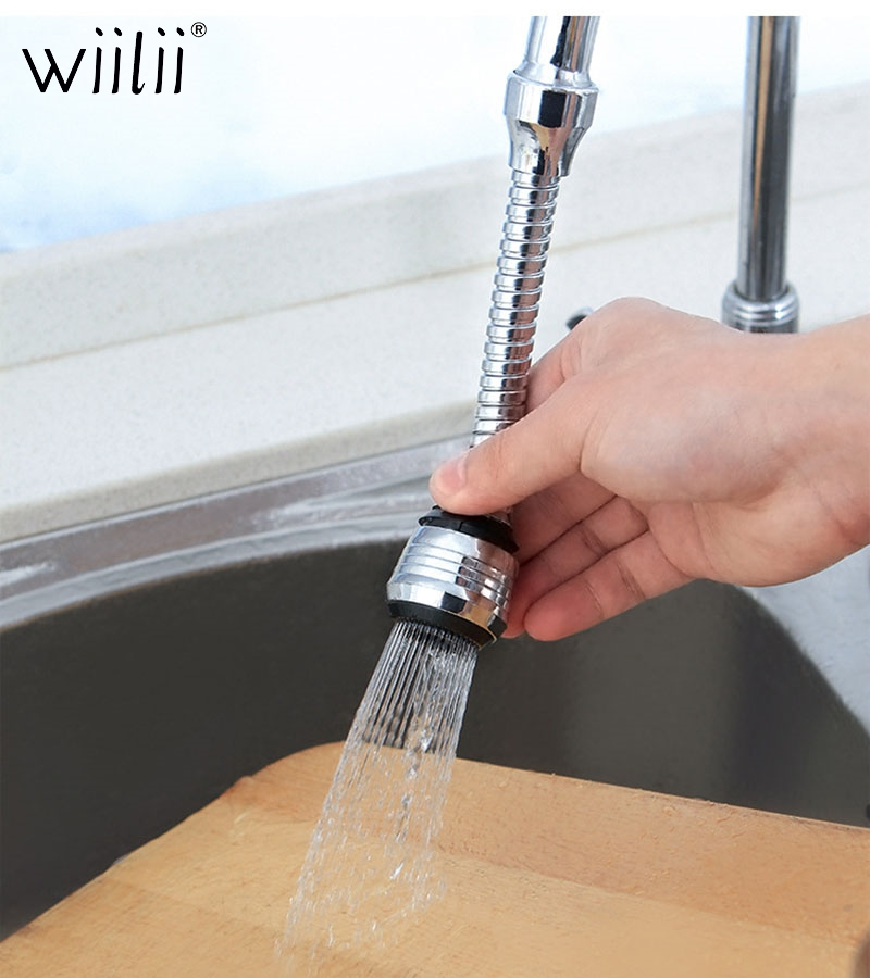 Wiilii 360 Degree Rotatable Faucet Bubbler Nozzle Bathroom Kitchen Adjustable Diffuser Faucet Nozzle Sprayers Bubbler Water-tap