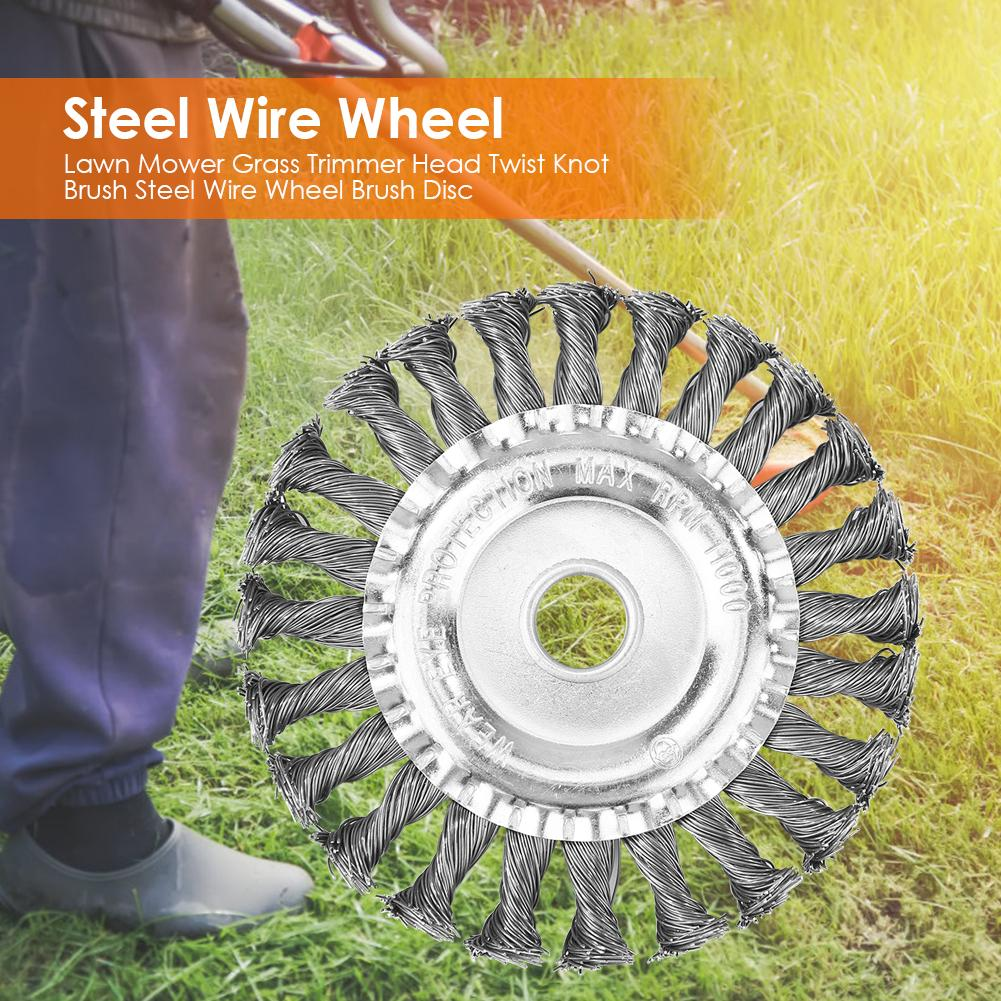 Awn Mower Grass Trimmer Head Twist Knot Brush Steel Wire Wheel Brush Disc Steel Wire Wheel For Replacing The Head Of A Lawn Mow