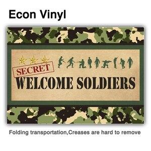 Image 2 - Allenjoy bienvenue soldats photographie toile de fond anniversaire camouflage militaire poupée avion réservoir arrière plan photophone photocall