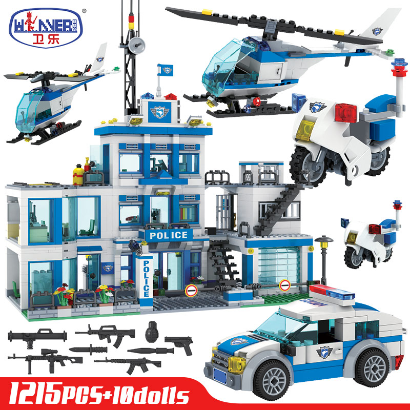 Winer  SWAT City Police Station Building Blocks