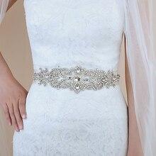 TRiXY S26 Crystal Wedding Belt Rhinestone Czech Stones Bride Bridal Sashes Accessories Evening Dress