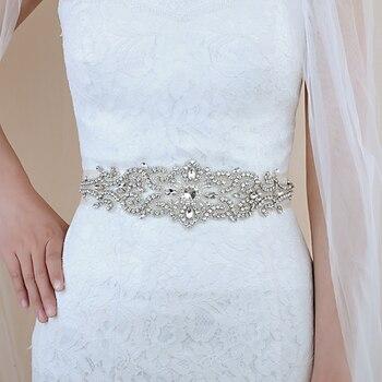TRiXY S26 Luxury Crystal Wedding Belt of Bride Rhinestone Bridal Belt Bridal Sash Wedding Accessories Prom Dress Belt Jewel Sash yung mom s26