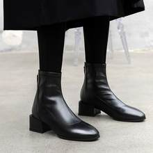 Big Size 9 10 11 12 boots women shoes ankle boots for women ladies boots shoes woman winter Zipper back of elastic leather boots(China)