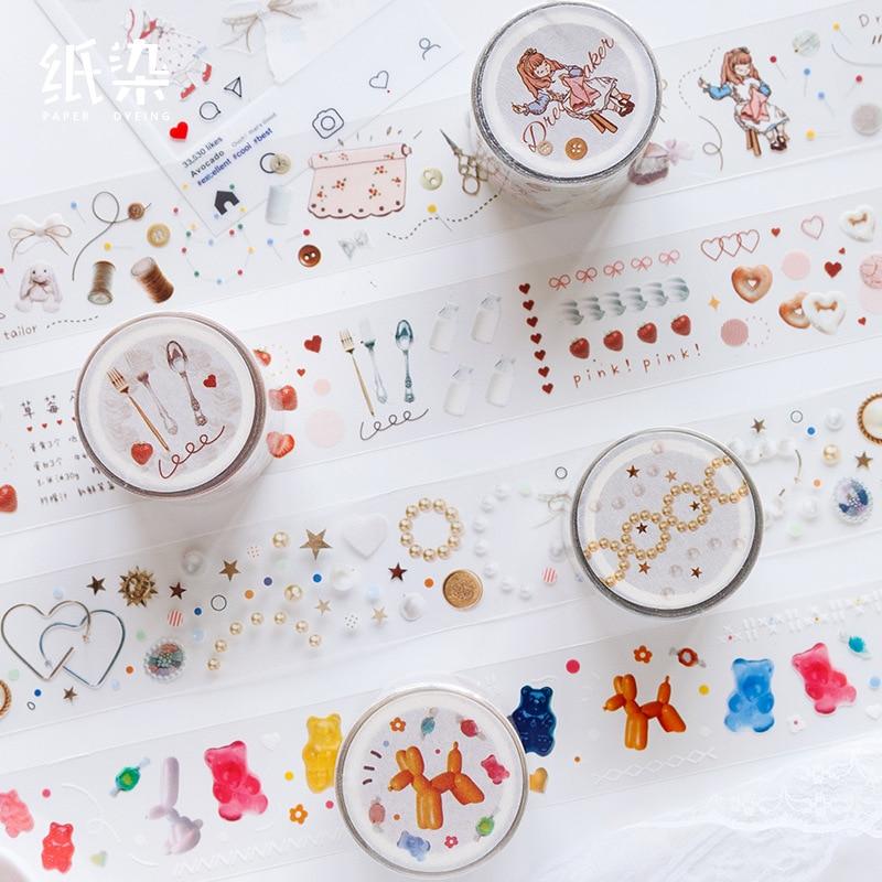 Star Debris Jar Series Bullet Journal PET Washi Tape Cute Decorative Adhesive Tape DIY Scrapbooking Sticker Label Stationery