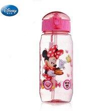 Девушки мультфильм принцесса Микки Минни Маус воды чашки с соломинкой Мальчики Дисней студентов Открытый питьевой воды бутылка детский подарок