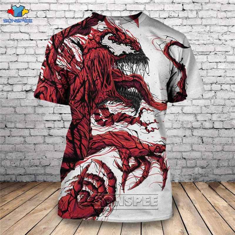 SONSPEE 2020 Heißer Neue Mode Sexy Venom 3D Gedruckt T hemd Einzigartige Kurzarm T-shirt Männer Frauen Kleidung Drop Verschiffen tops D84