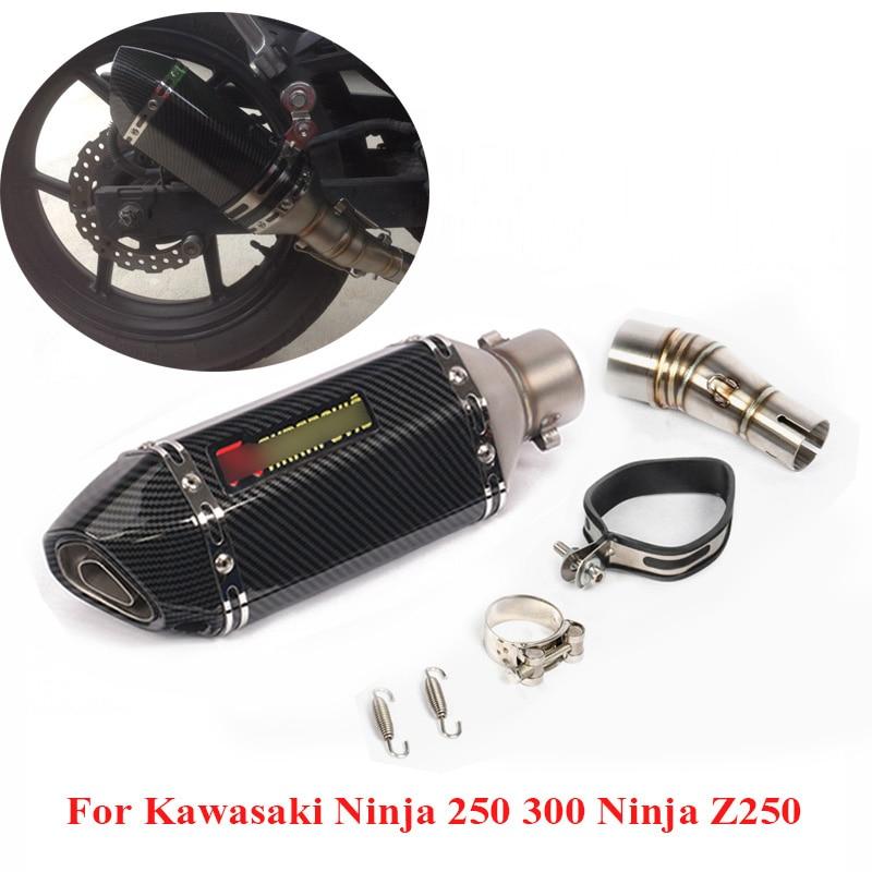 Motorcycle Slip on Exhaust system With Muffler Fit For Kawasaki ninja 250 ninja 300 2008-2017