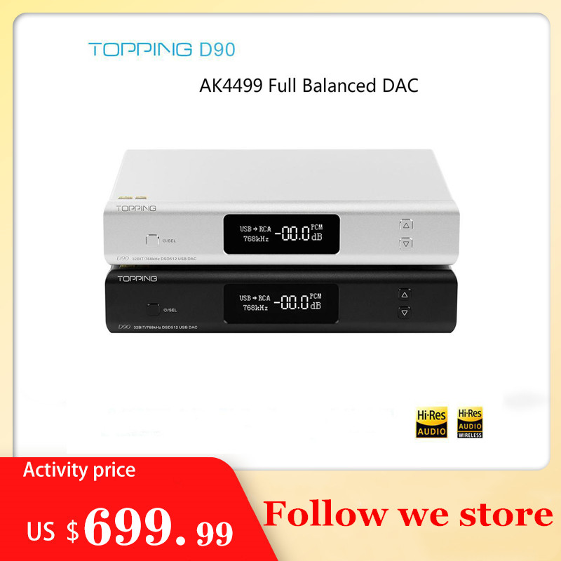 New TOPPING D90 HIFI AK4499 <font><b>USB</b></font> <font><b>DAC</b></font> Bluetooth 5.0 DSD512 CAR8675 LDAC Hi-Res Audio HIFI Decoder image
