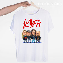 Slayer Heavy Metal Thrash Rock Speed Metal Band T-shirt o-cuello de manga corta verano Casual moda Unisex hombres y mujeres camiseta(China)