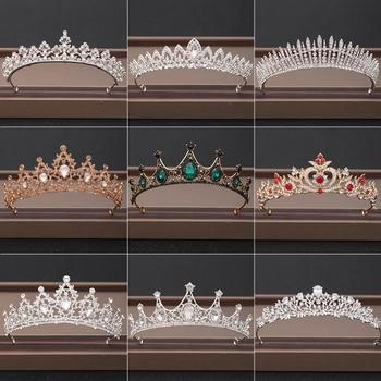 Wedding Crown Hair Jewelry Bridal Headpiece woman Baroque Rhinestones Crystal Tiaras Bride Party Crowns Wedding Hair Accessories 6