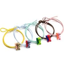 5 шт./компл. резинка для волос для девочек галстук-бабочка волосы Карамельный цвет маленького динозавра детское платье для дня рождения на шнуровке женские аксессуары для волос