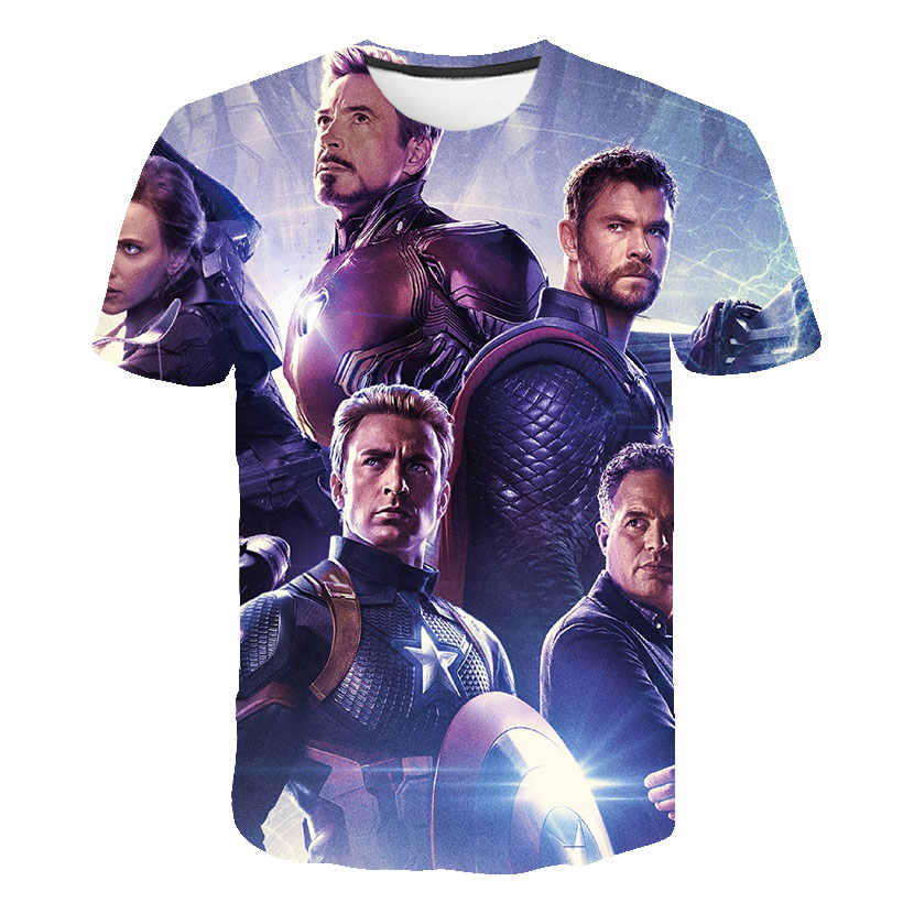 3D בנים חולצה ילדים מארוול איש ברזל Thor האלק קפטן אמריקה ספיידרמן בני ילד קריקטורה בנות בגדי camisetas 2020