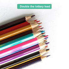 Matita a 24 colori a doppia testa 12 colore inglese piombo 12 pittura giardino matite colorate in legno g3