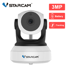 Vstarcam 1080P IP 카메라 와이파이 카메라 실내 2500mAh 충전식 배터리 AI 자동 추적 CCTV 감시 보안 카메라