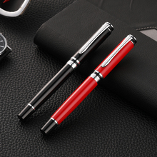 Guoyi A293 red metal ink pen 0.5mm nib Learn office school stationery Gift Luxury pen & hotel business Writing Fountain pen