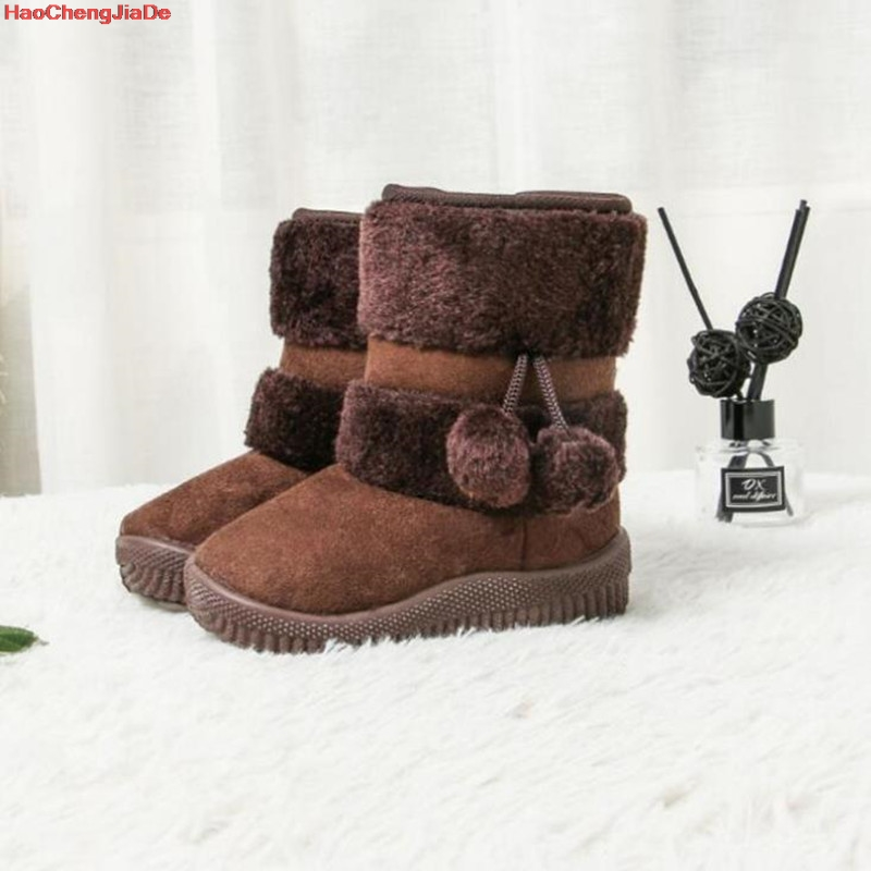 Winter Baby Boots New Boys Girls Fashion Snow Boots Cotton Thick Warm Shoes Ultralight Kids Ankle Boots Children 5 Color