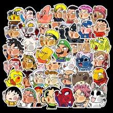 50 Pcs/Lot Kawaii Stickers Marvel Custom Papelaria Cartoon Characters Stationery Sticker Waterproof TZ093G