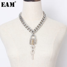 [EAM] Women Big Chain Key Decoration Cool Buckle Metal Necklace New Temperament Fashion All-match Spring Autumn 2019 1A139(China)